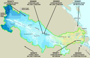Cowichan Watershed Discharge Map