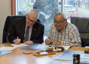 Signing Koksilah Interim letter of agreement